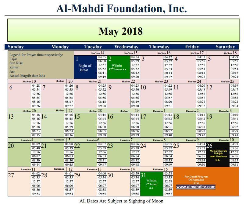 May Calendar New York City : Calendar namaz timings sandralvi
